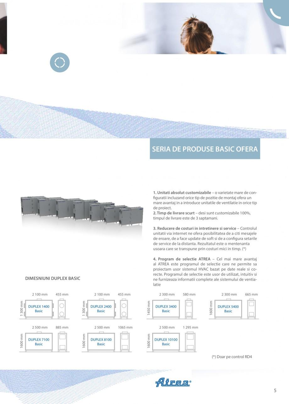 Pagina 5 - Unitate de ventilatie ATREA DUPLEX BASIC Catalog, brosura Romana a WEB – ATREA...