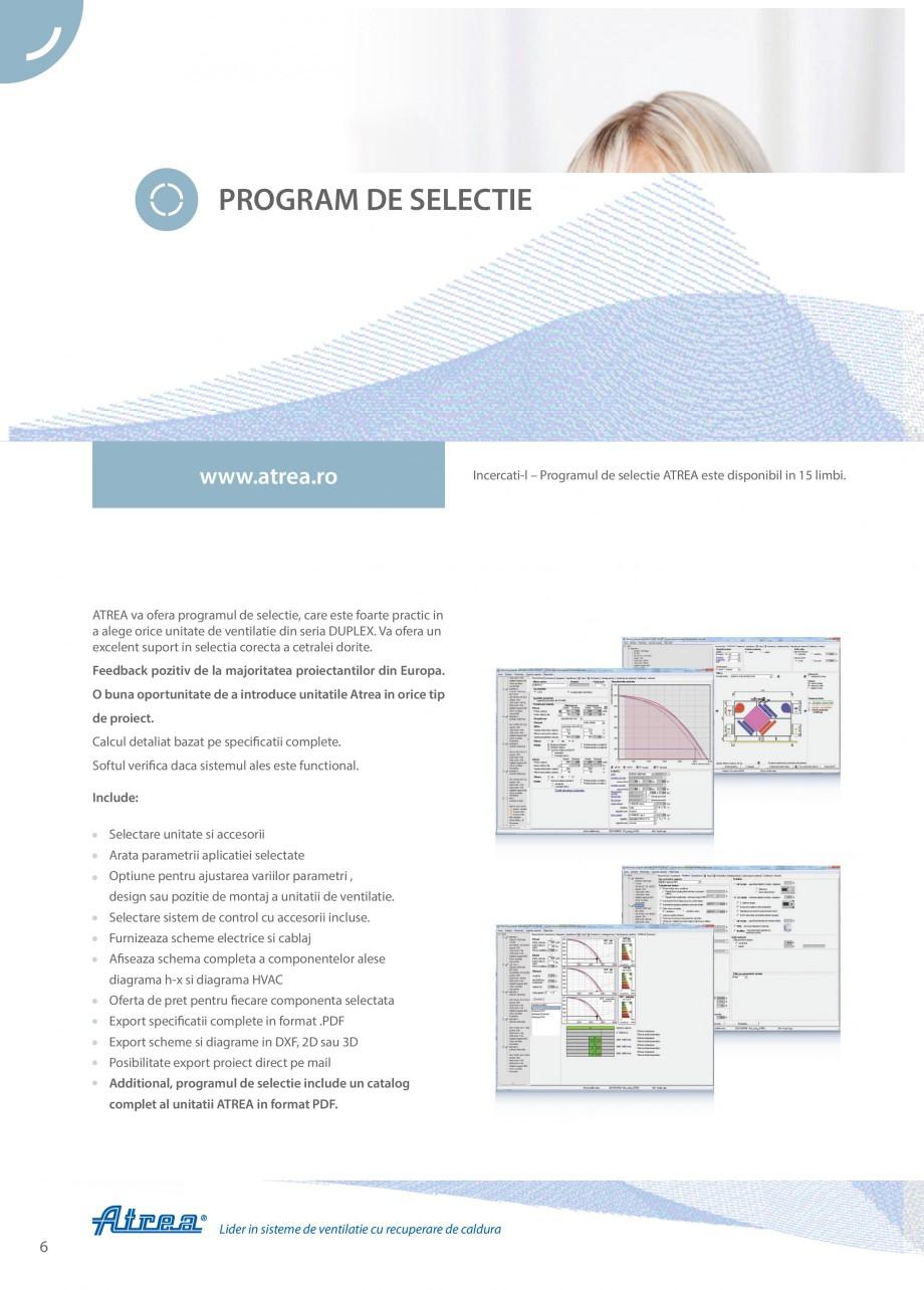 Pagina 6 - Unitate de ventilatie ATREA DUPLEX BASIC Catalog, brosura Romana t cu un itatile ieftine ...