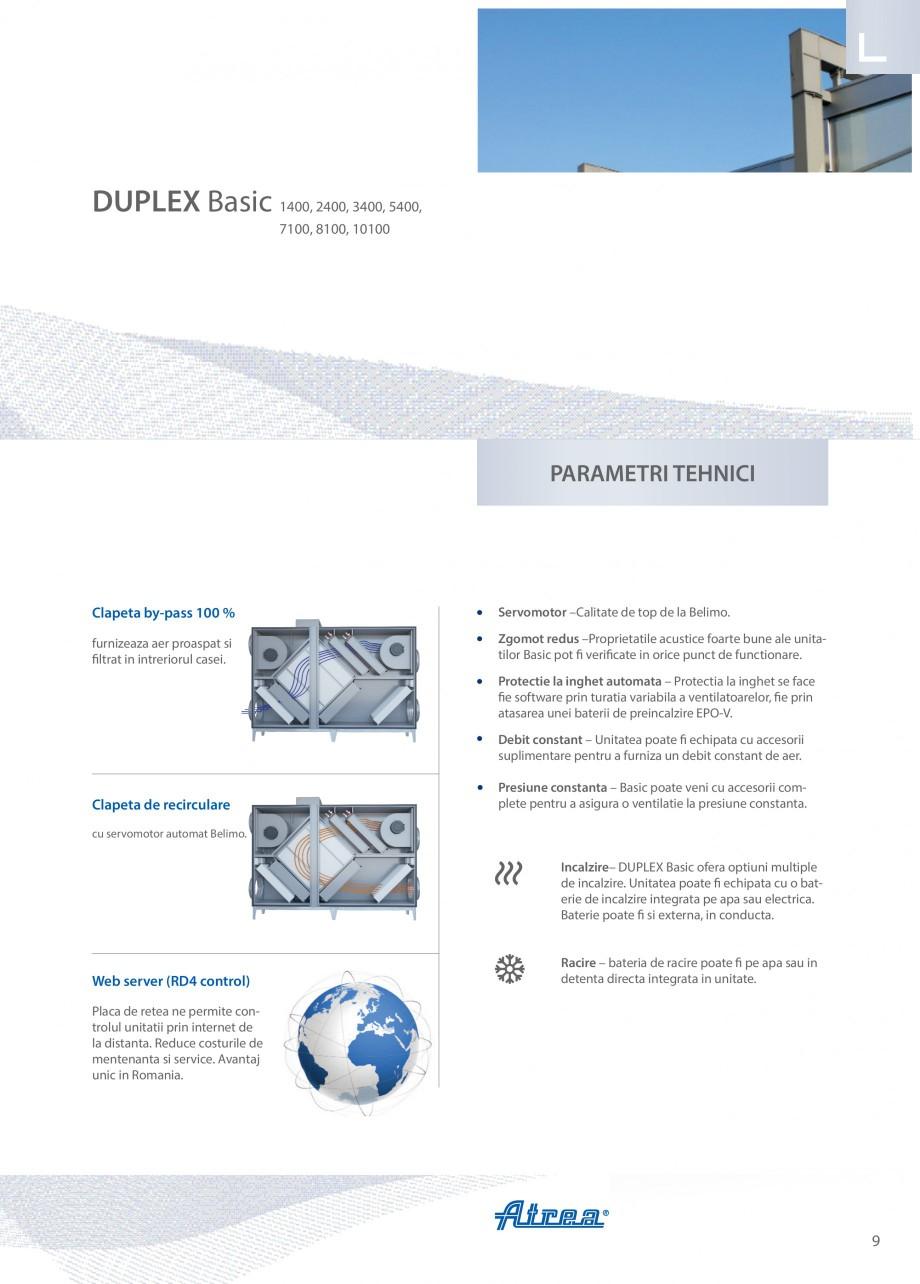 Pagina 9 - Unitate de ventilatie ATREA DUPLEX BASIC Catalog, brosura Romana t proiect direct pe mail...