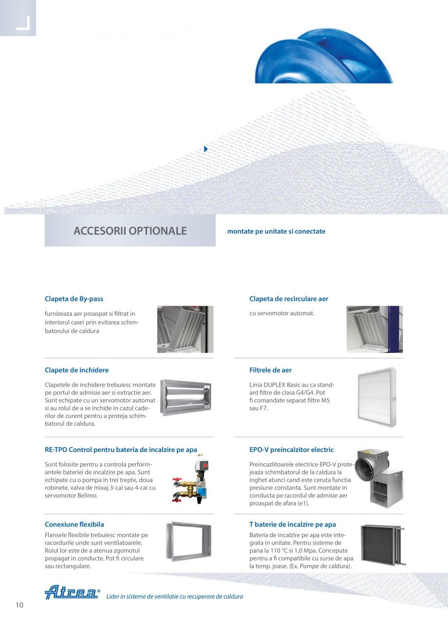 Pagina 10 - Unitate de ventilatie ATREA DUPLEX BASIC Catalog, brosura Romana fara recuperare de...