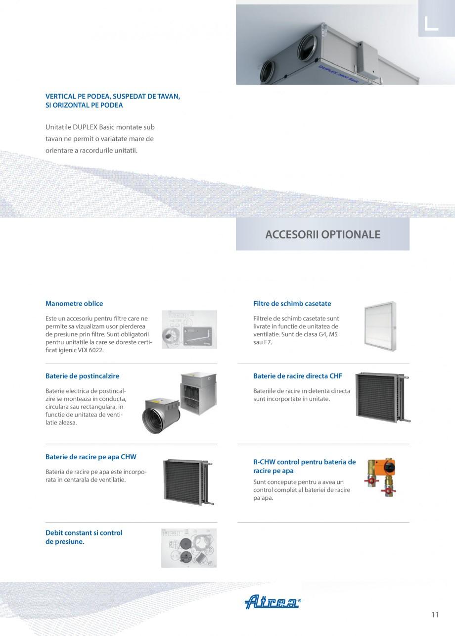 Pagina 11 - Unitate de ventilatie ATREA DUPLEX BASIC Catalog, brosura Romana ie. Acces usor –usita...