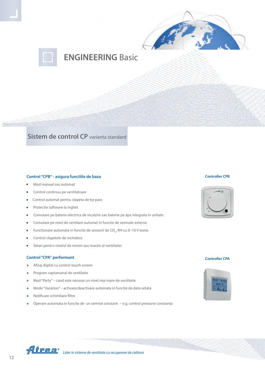Pagina 12 - Unitate de ventilatie ATREA DUPLEX BASIC Catalog, brosura Romana tru a furniza un debit ...
