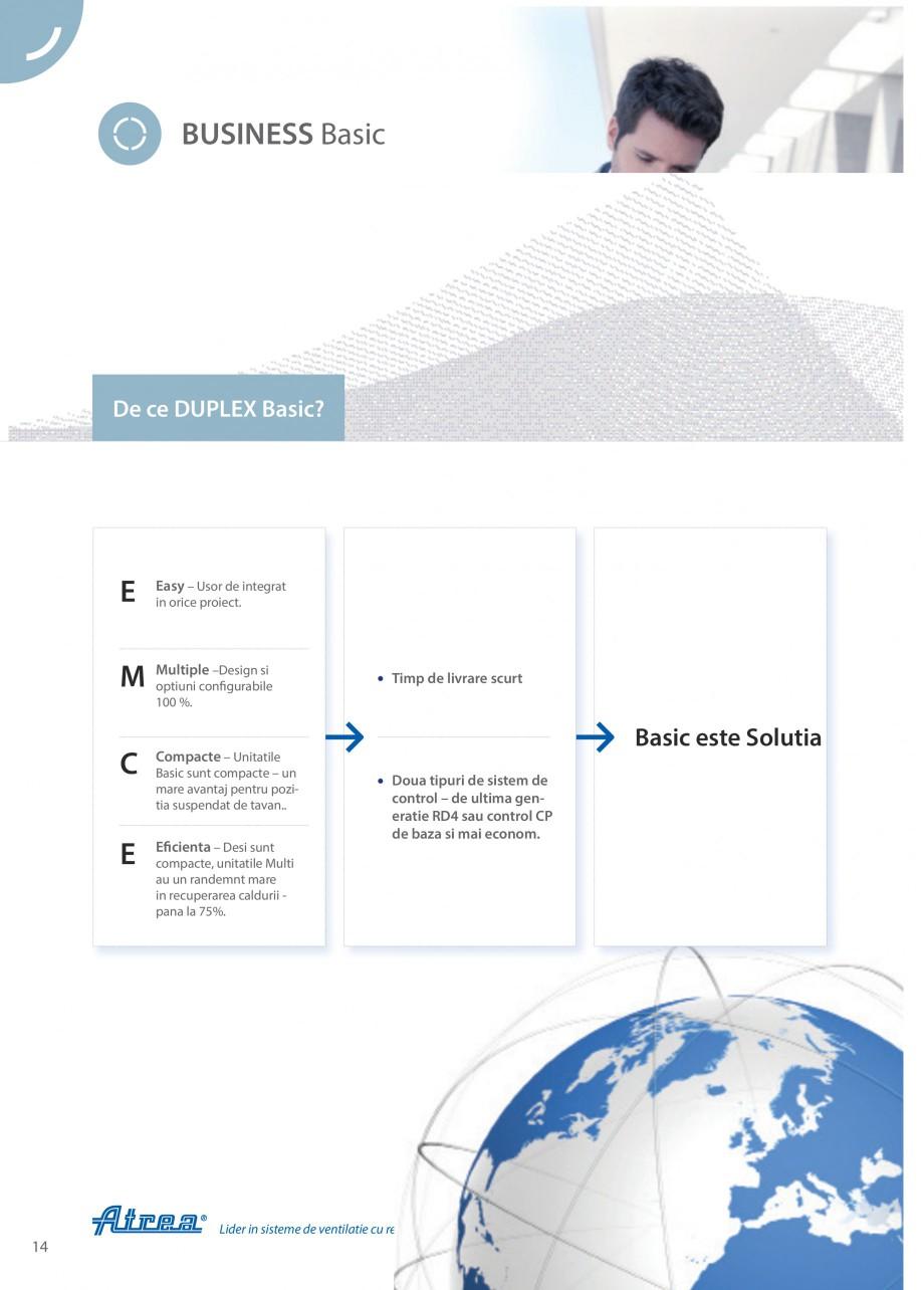 Pagina 14 - Unitate de ventilatie ATREA DUPLEX BASIC Catalog, brosura Romana ara (e1).  Conexiune...