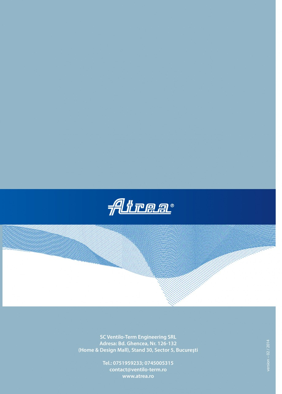 Pagina 16 - Unitate de ventilatie ATREA DUPLEX BASIC Catalog, brosura Romana a in functie de...