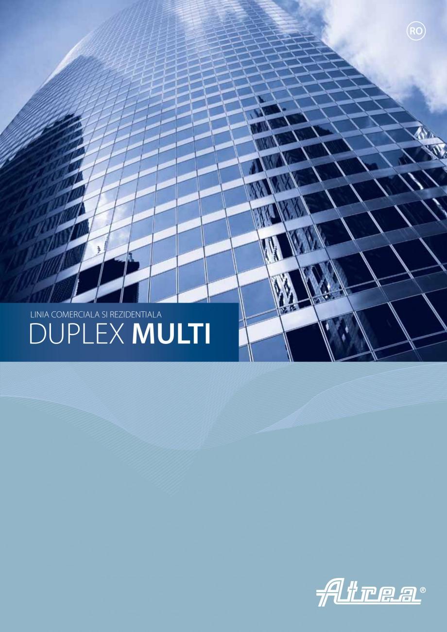 Pagina 1 - Unitate de ventilatie ATREA DUPLEX MULTI Catalog, brosura Romana RO  LINIA COMERCIALA SI ...