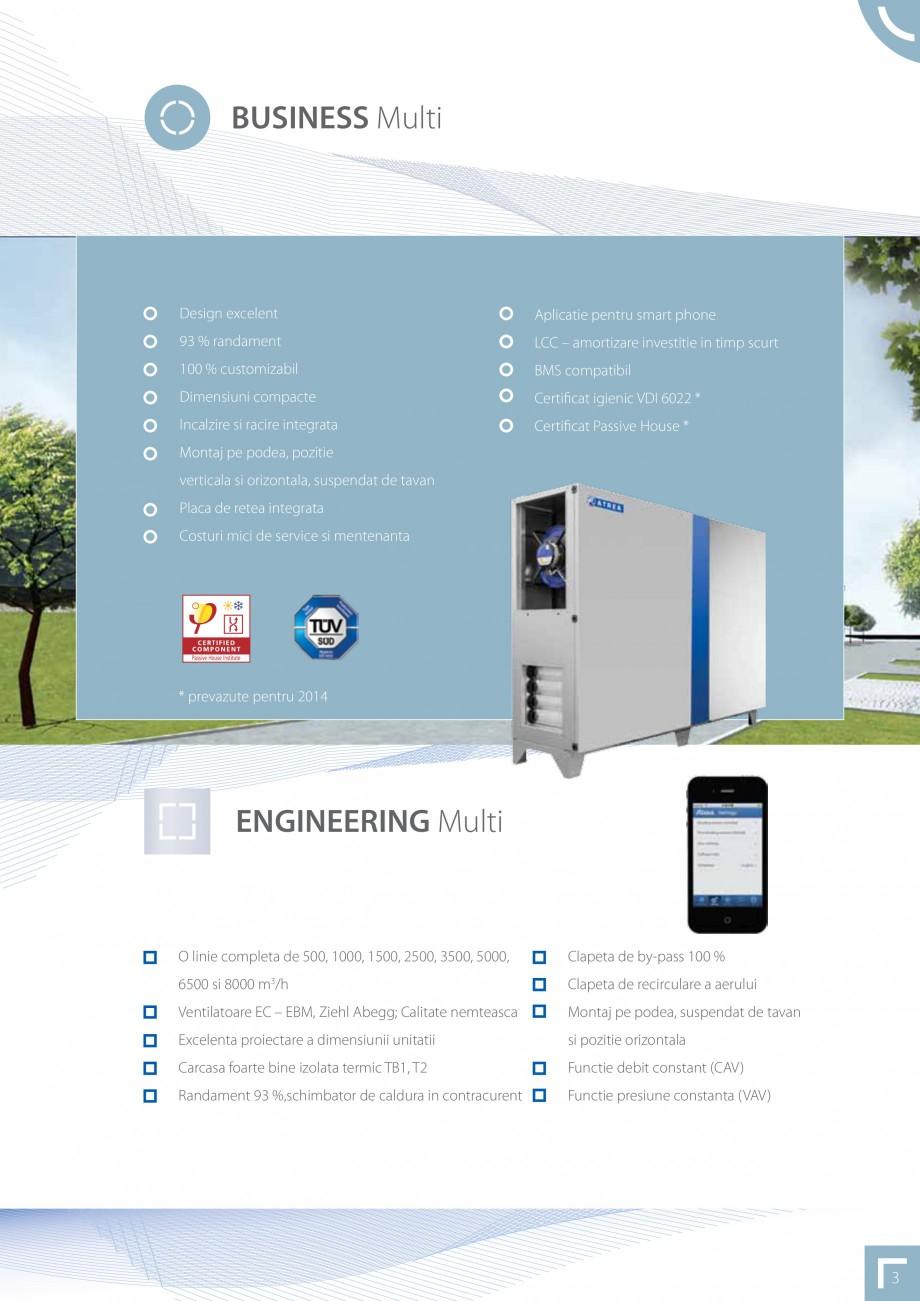 Pagina 3 - Unitate de ventilatie ATREA DUPLEX MULTI Catalog, brosura Romana a de by-pass 100 %  6500...