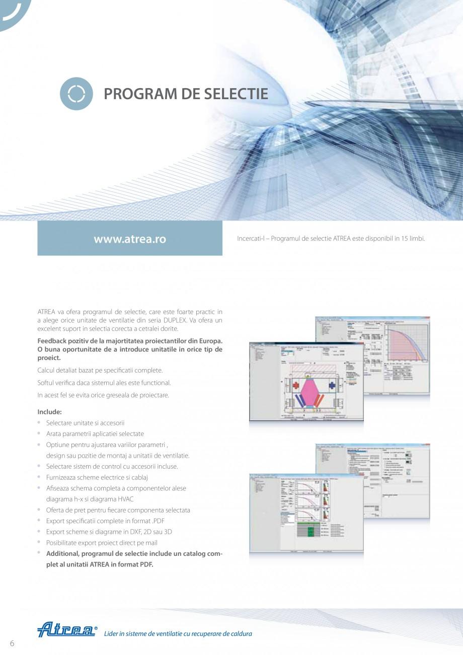 Pagina 6 - Unitate de ventilatie ATREA DUPLEX MULTI Catalog, brosura Romana tine si de proasta...