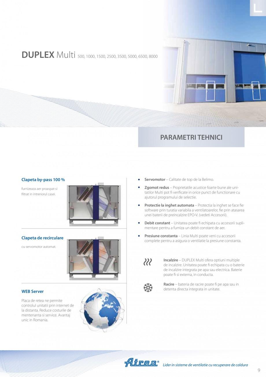 Pagina 9 - Unitate de ventilatie ATREA DUPLEX MULTI Catalog, brosura Romana ectate Optiune pentru...