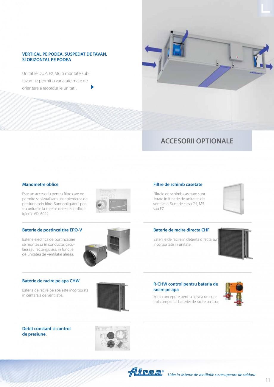 Pagina 11 - Unitate de ventilatie ATREA DUPLEX MULTI Catalog, brosura Romana R (polyisocyanurate)...