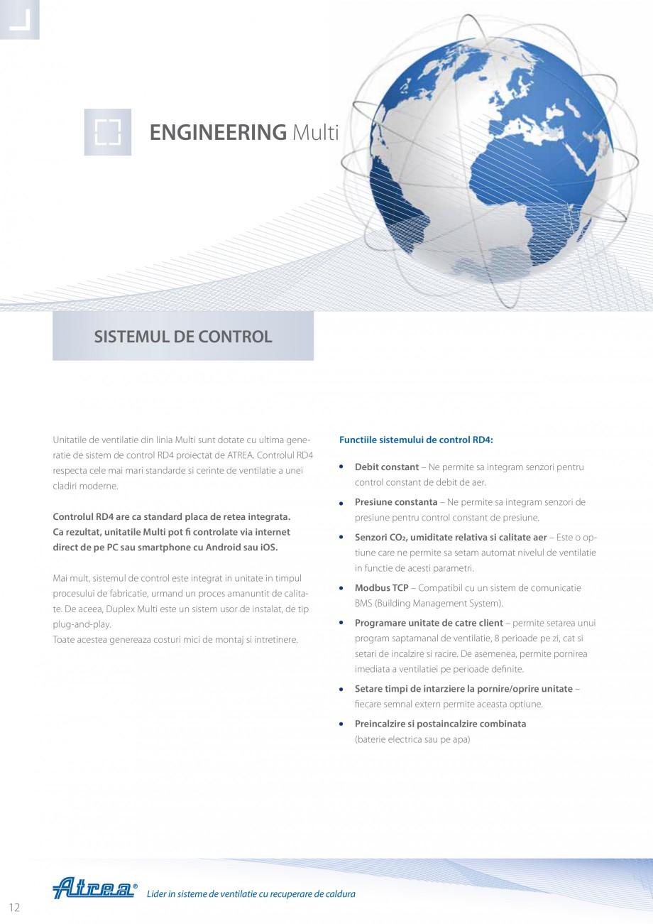 Pagina 12 - Unitate de ventilatie ATREA DUPLEX MULTI Catalog, brosura Romana , 3500, 5000, 6500,...