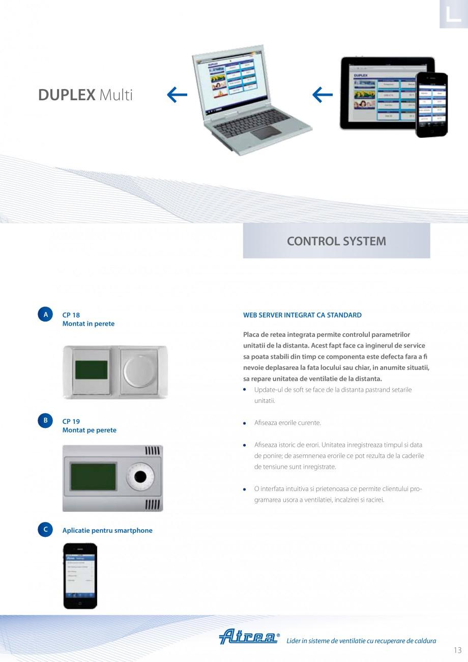 Pagina 13 - Unitate de ventilatie ATREA DUPLEX MULTI Catalog, brosura Romana B Server  Racire –...