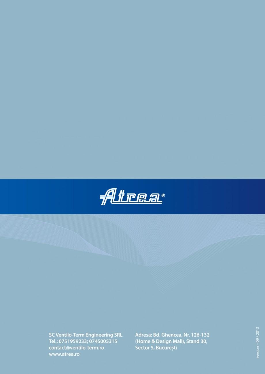 Pagina 16 - Unitate de ventilatie ATREA DUPLEX MULTI Catalog, brosura Romana incorporata in...