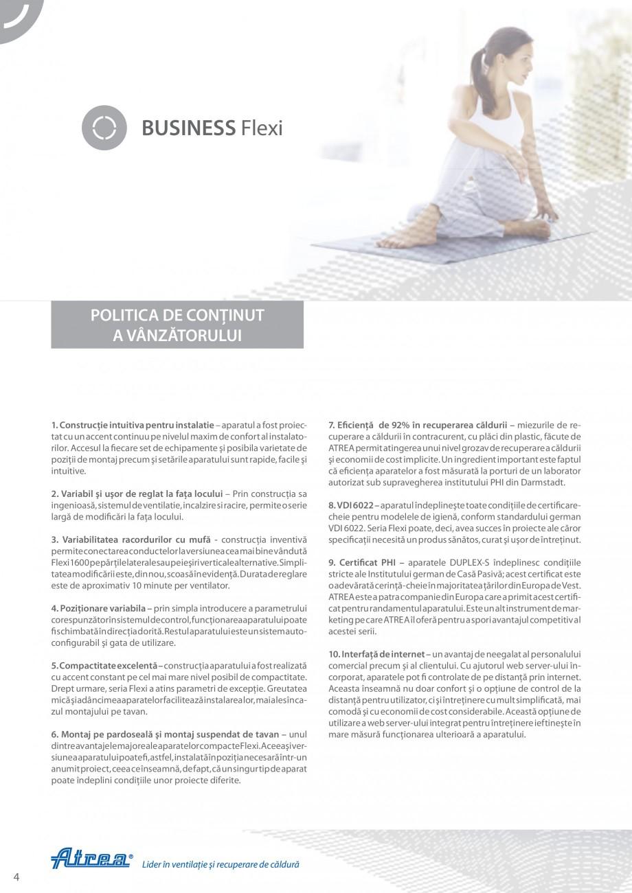 Pagina 4 - Unitate de ventilatie ATREA DUPLEX-S FLEXI Catalog, brosura Romana lui sunt rapide,...