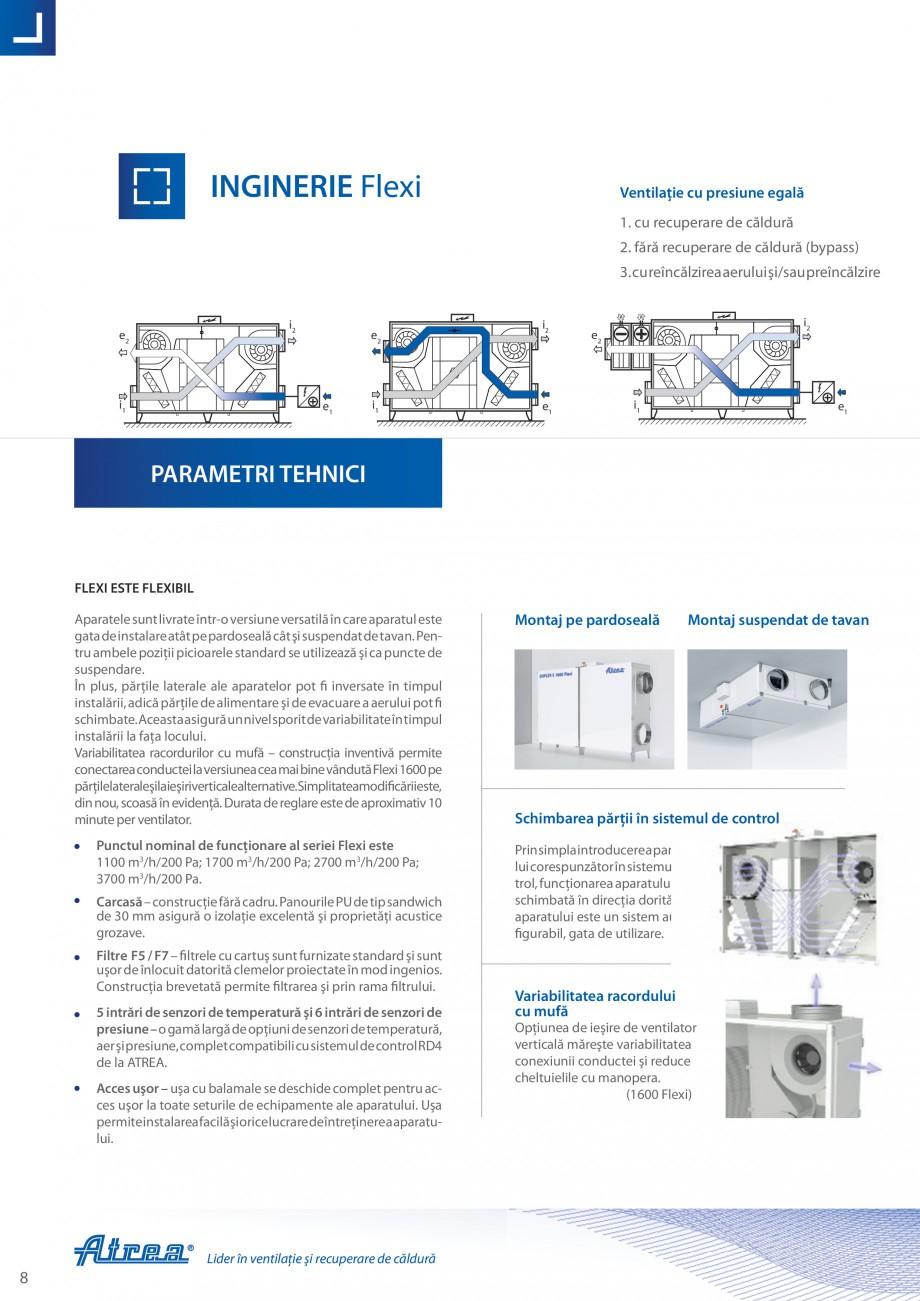 Pagina 8 - Unitate de ventilatie ATREA DUPLEX-S FLEXI Catalog, brosura Romana �inerea facilă...