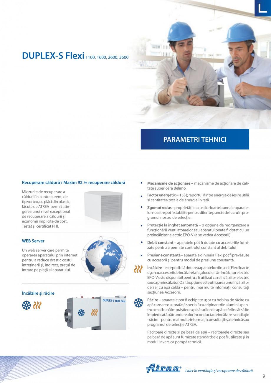 Pagina 9 - Unitate de ventilatie ATREA DUPLEX-S FLEXI Catalog, brosura Romana  o oportunitatea de a ...