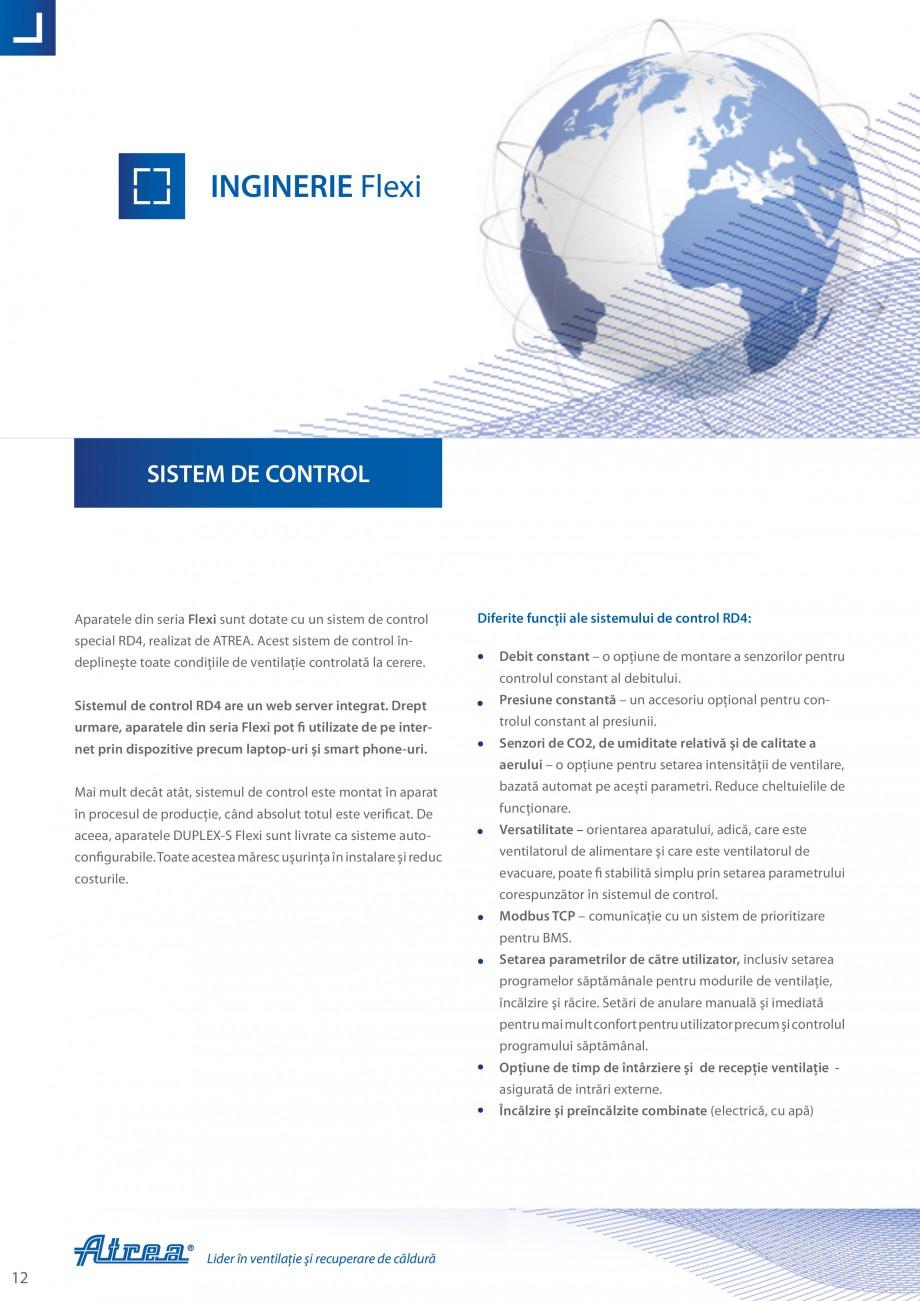 Pagina 12 - Unitate de ventilatie ATREA DUPLEX-S FLEXI Catalog, brosura Romana �ră cadru. Panourile...