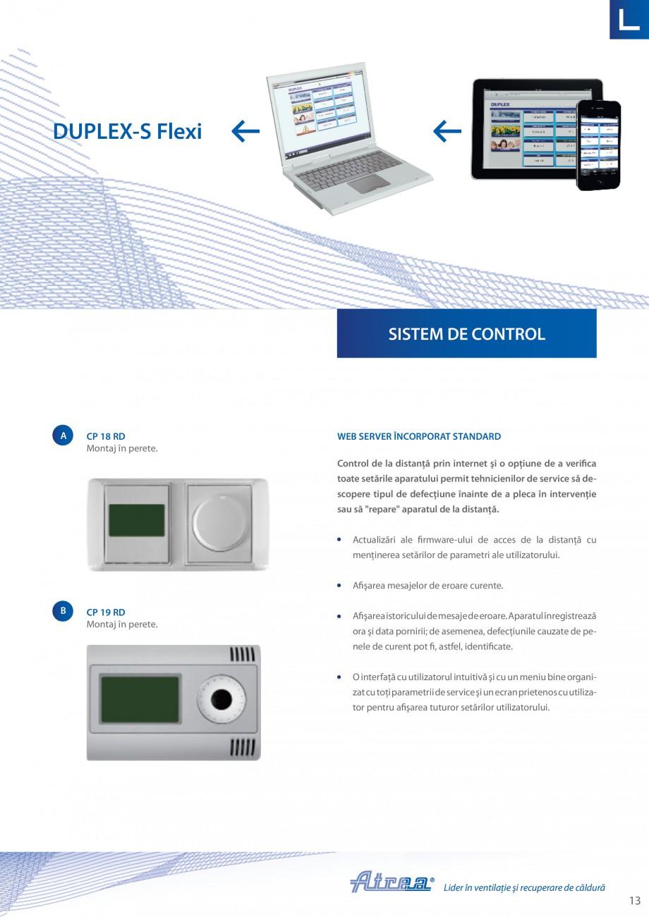 Pagina 13 - Unitate de ventilatie ATREA DUPLEX-S FLEXI Catalog, brosura Romana  schimbată în...
