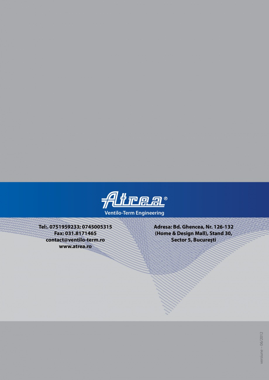 Pagina 16 - Unitate de ventilatie ATREA DUPLEX-S FLEXI Catalog, brosura Romana furnizate separat ...