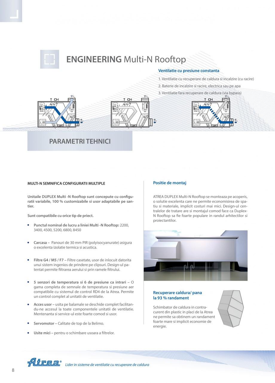 Pagina 8 - Unitate de ventilatie ATREA DUPLEX MULTI-N Rooftop Catalog, brosura Romana   DUPLEX 8000 ...