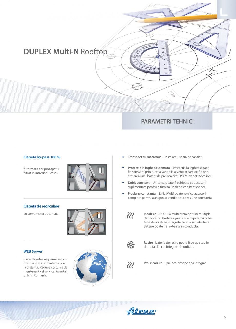 Pagina 9 - Unitate de ventilatie ATREA DUPLEX MULTI-N Rooftop Catalog, brosura Romana ozitie de...