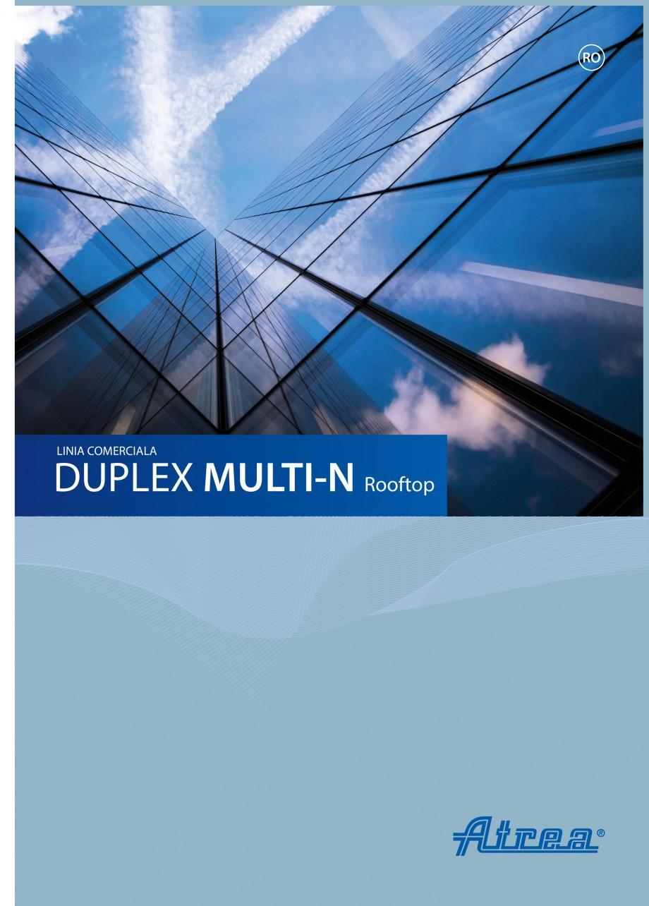 Pagina 1 - Unitate de ventilatie ATREA DUPLEX MULTI-N Rooftop Catalog, brosura Romana RO  LINIA...