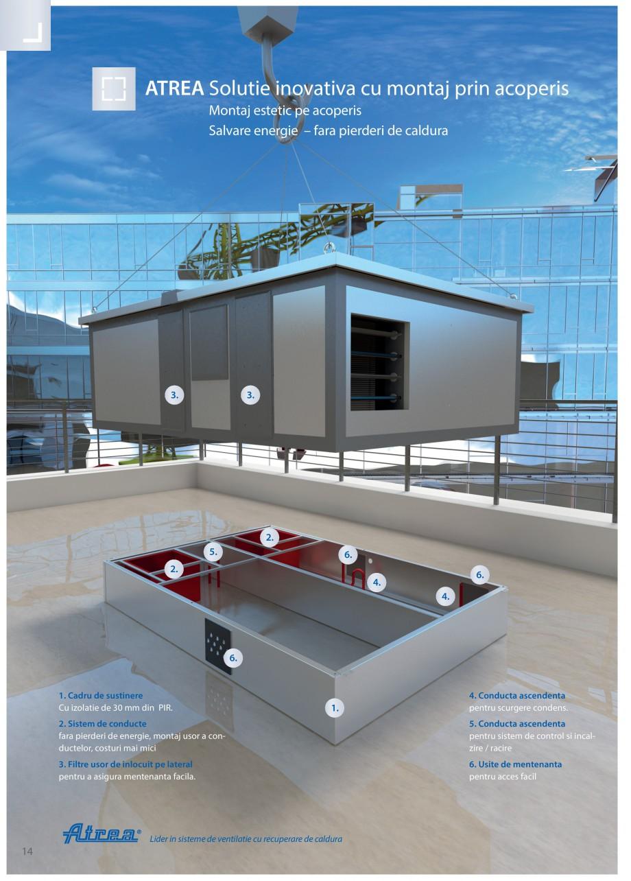 Pagina 14 - Unitate de ventilatie ATREA DUPLEX MULTI-N Rooftop Catalog, brosura Romana a standard...