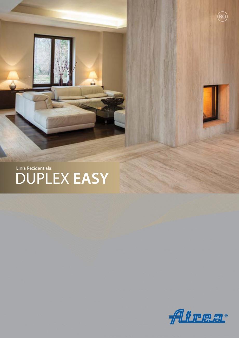 Pagina 1 - Sistem de ventilatie cu recuperare de caldura - Linia Rezidentiala ATREA DUPLEX EASY Fisa...