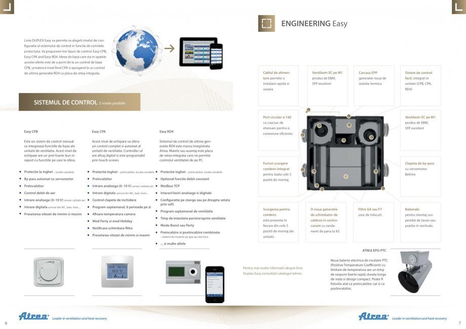 Pagina 4 - Sistem de ventilatie cu recuperare de caldura - Linia Rezidentiala ATREA DUPLEX EASY Fisa...