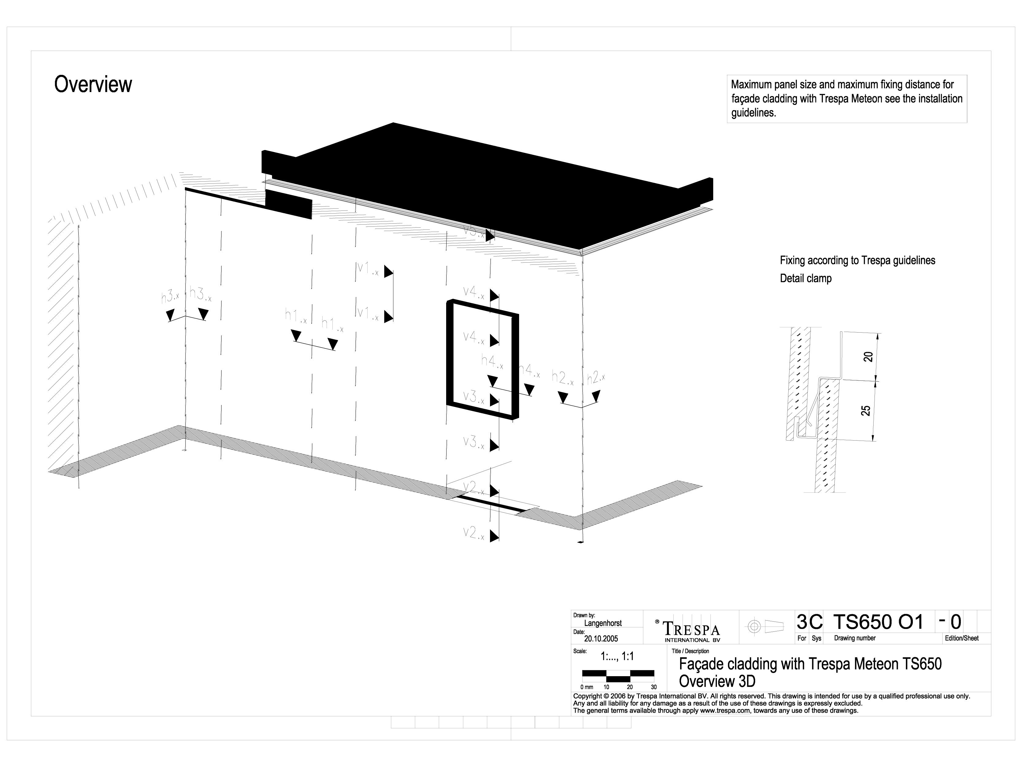 Pagina 1 - CAD-DWG Sisteme de prindere fatade ventilate cu clame, detaliu 3D TRESPA Detaliu de...