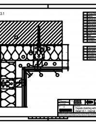 Sisteme de prindere fatade ventilate cu clame, detaliu colt interior
