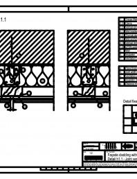 Sisteme de prindere fatade ventilate cu clame, detaliu de imbinare pe verticala