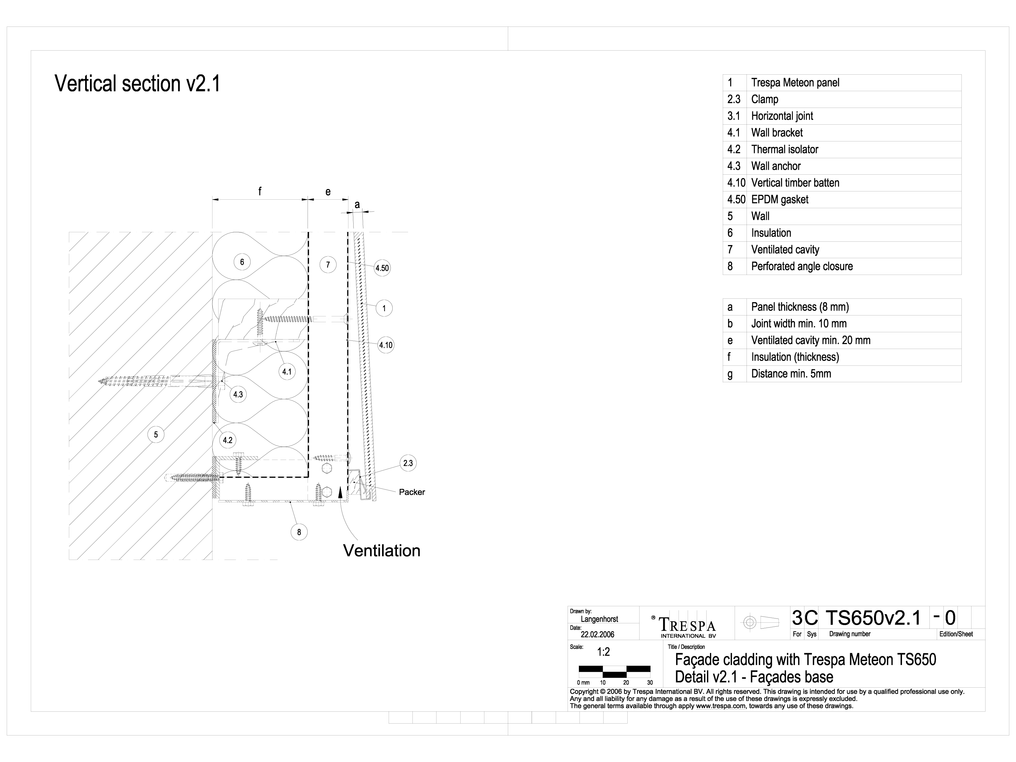 Pagina 1 - CAD-DWG Sisteme de prindere fatade ventilate cu clame, detaliu de prondere la baza...