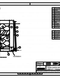 Sisteme de prindere fatade ventilate cu clame, detaliu de prondere la baza fatadei