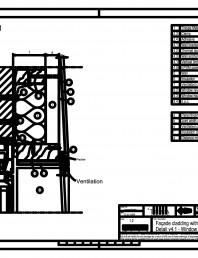 Sisteme de prindere fatade ventilate cu clame, detaliu de racordare la fereastra