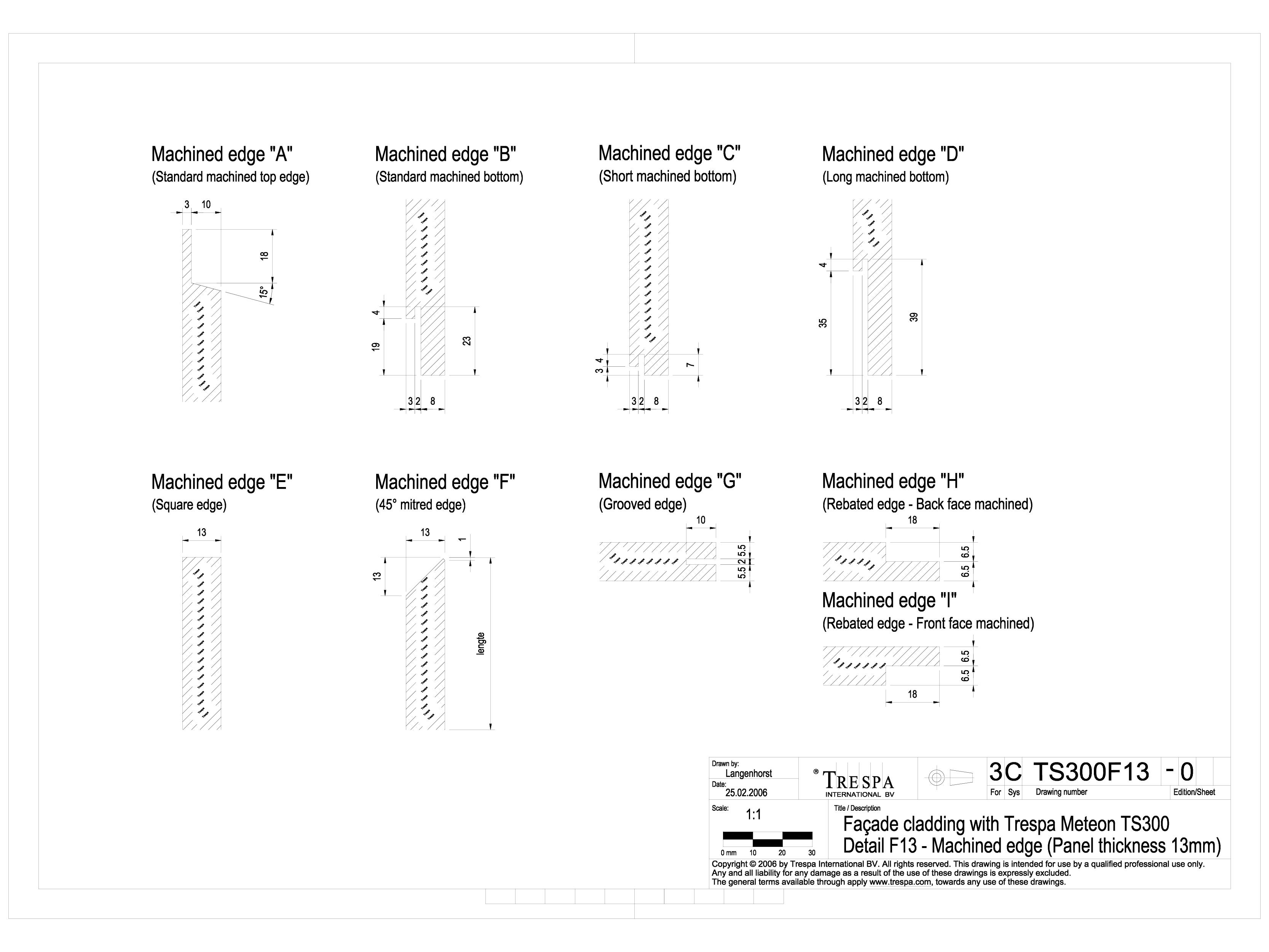 Pagina 1 - CAD-DWG Sisteme de prindere fatade ventilate cu profile oarbe de 13mm TRESPA Detaliu de...
