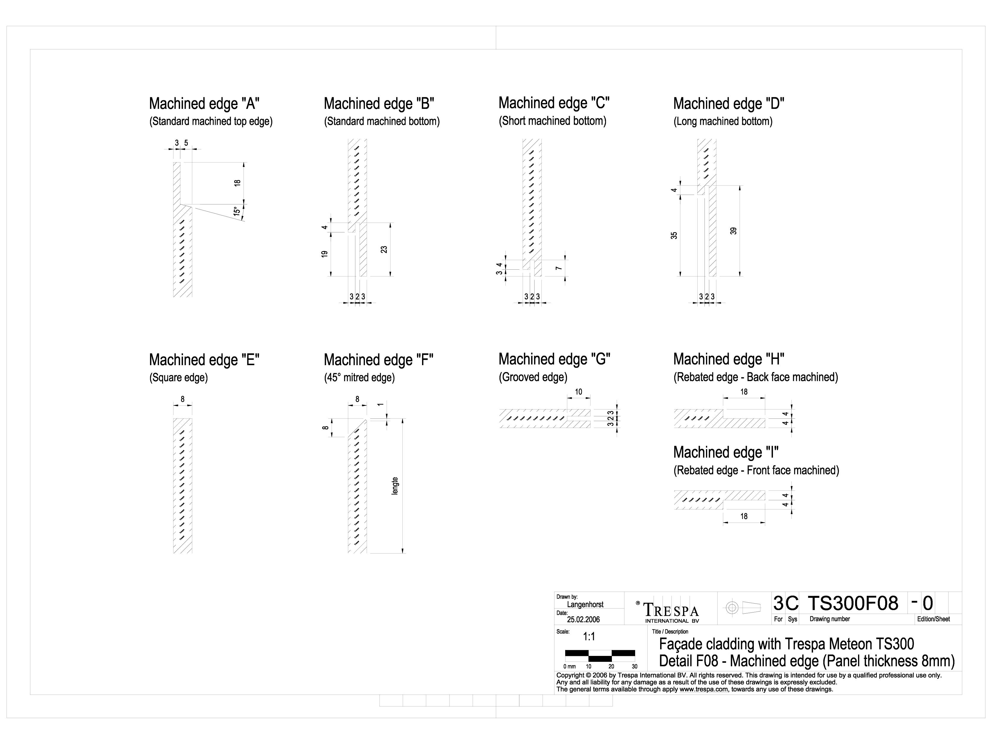 Pagina 1 - CAD-DWG Sisteme de prindere fatade ventilate cu profile oarbe de 8mm TRESPA Detaliu de...