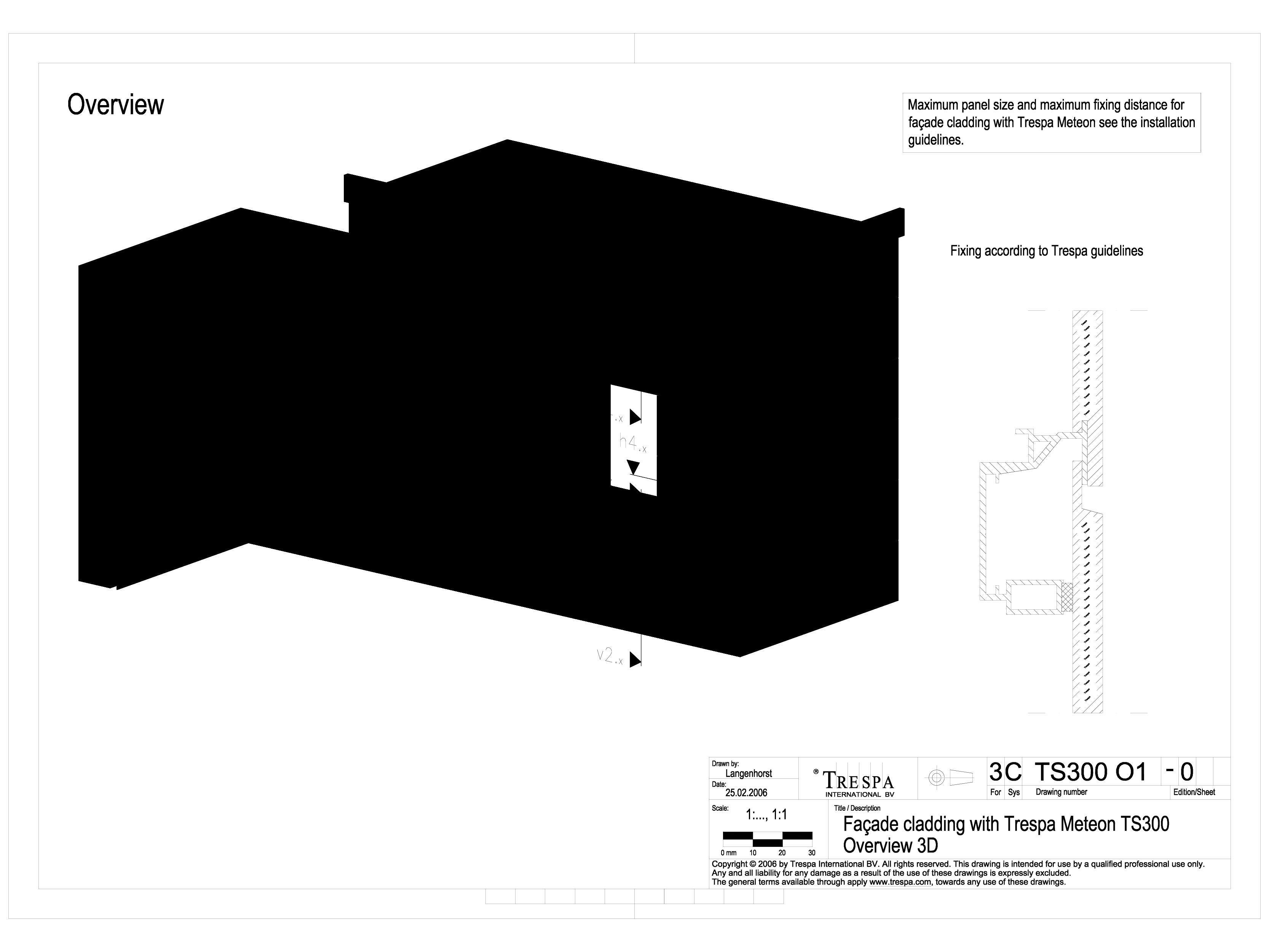 Pagina 1 - CAD-DWG Sisteme de prindere fatade ventilate cu profile oarbe, detaliu 3D TRESPA Detaliu ...