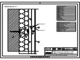 Sisteme de prindere fatade ventilate cu profile oarbe, detaliu de imbinare pe orizontala cu panou intermediar TRESPA