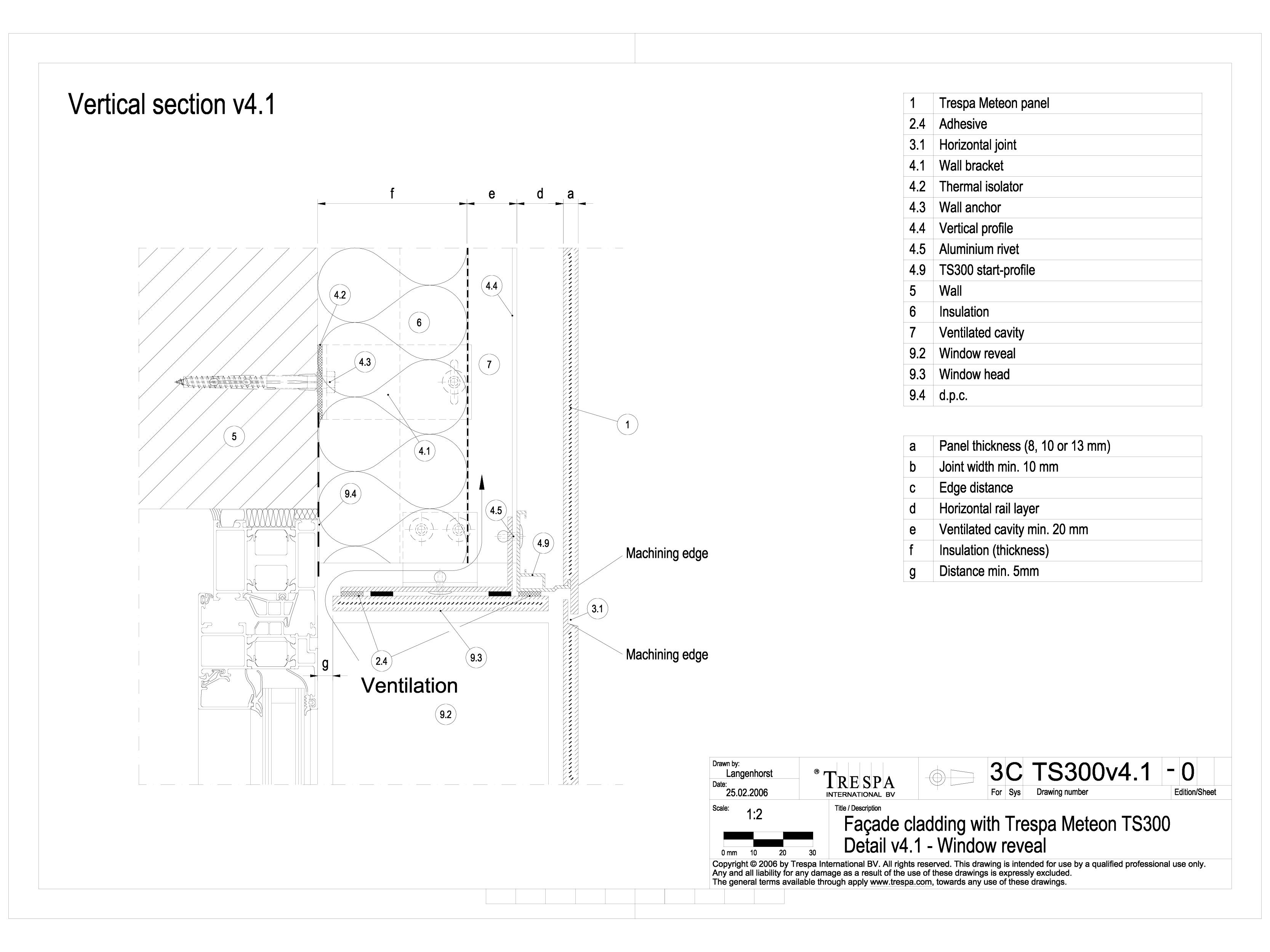 Pagina 1 - CAD-DWG Sisteme de prindere fatade ventilate cu profile oarbe, detaliu de racordare la...