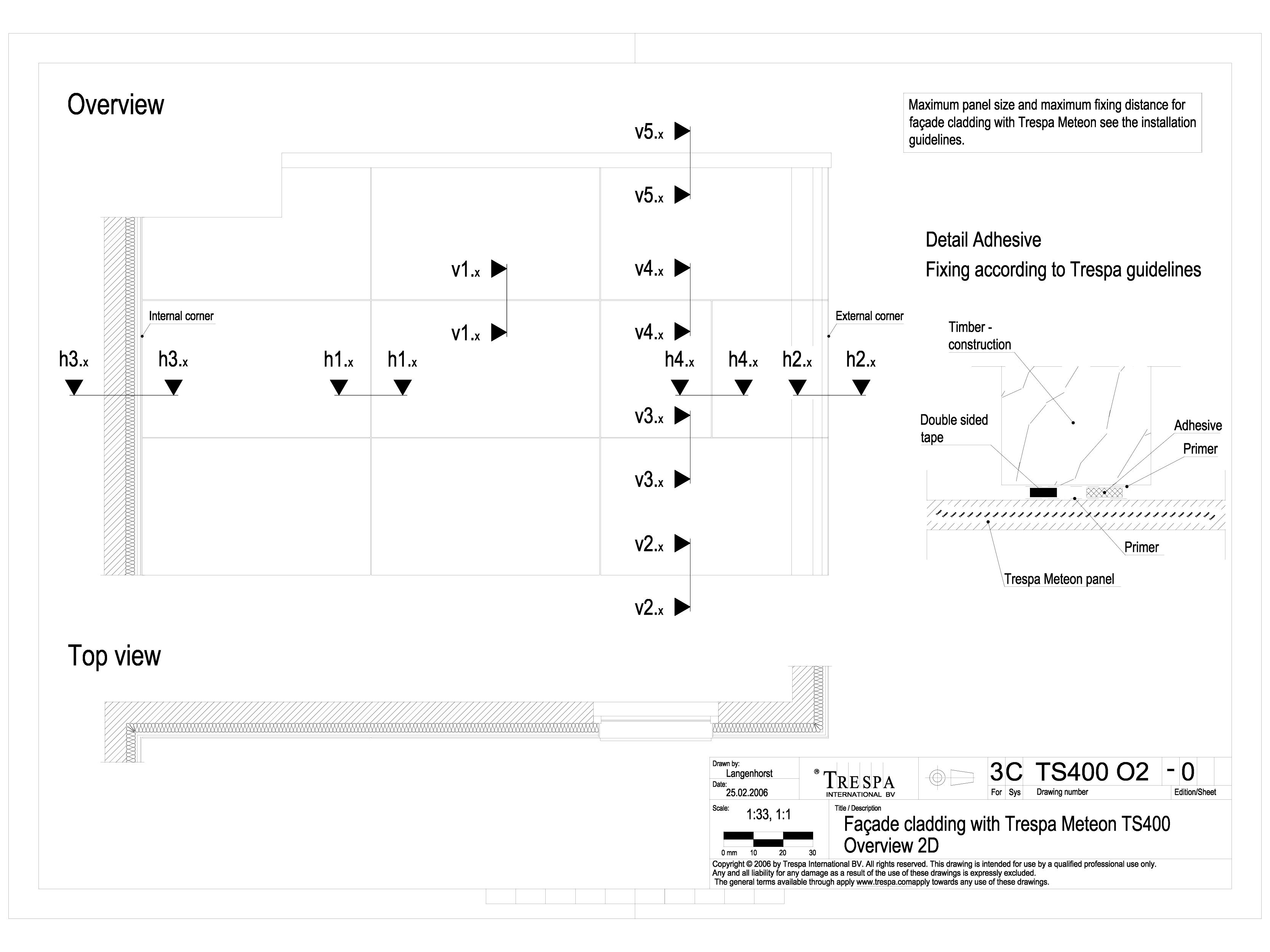 Pagina 1 - CAD-DWG Sisteme de prindere fatade ventilate invizibile cu adeziv si suruburi TRESPA...
