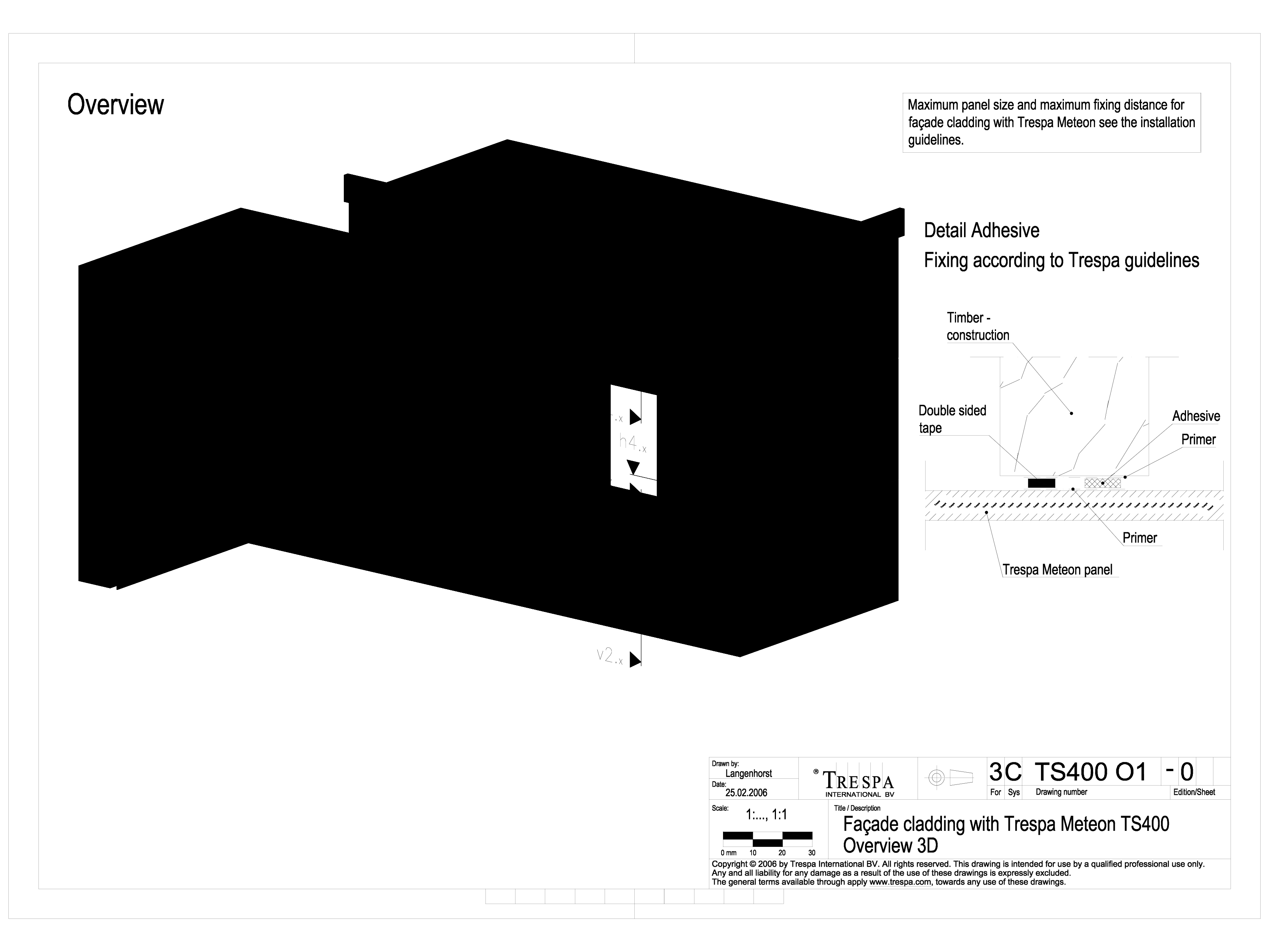 Sisteme de prindere fatade ventilate invizibile cu adeziv si suruburi, detaliu 3D METEON TRESPA Placi HPL pentru fatade ventilate GIBB TECHNOLOGIES  - Pagina 1