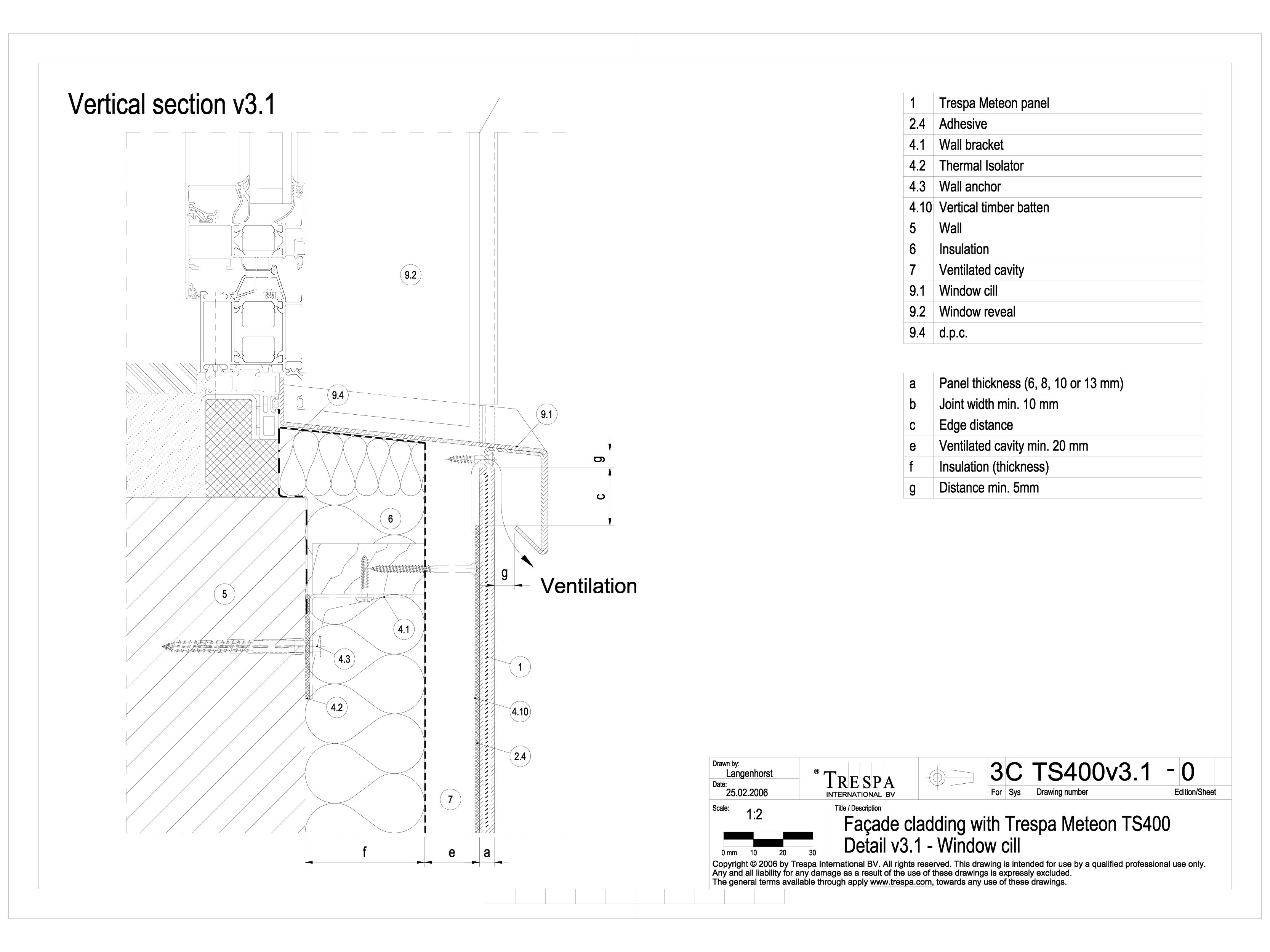 Pagina 1 - Sisteme de prindere fatade ventilate invizibile cu adeziv si suruburi, detaliu de...