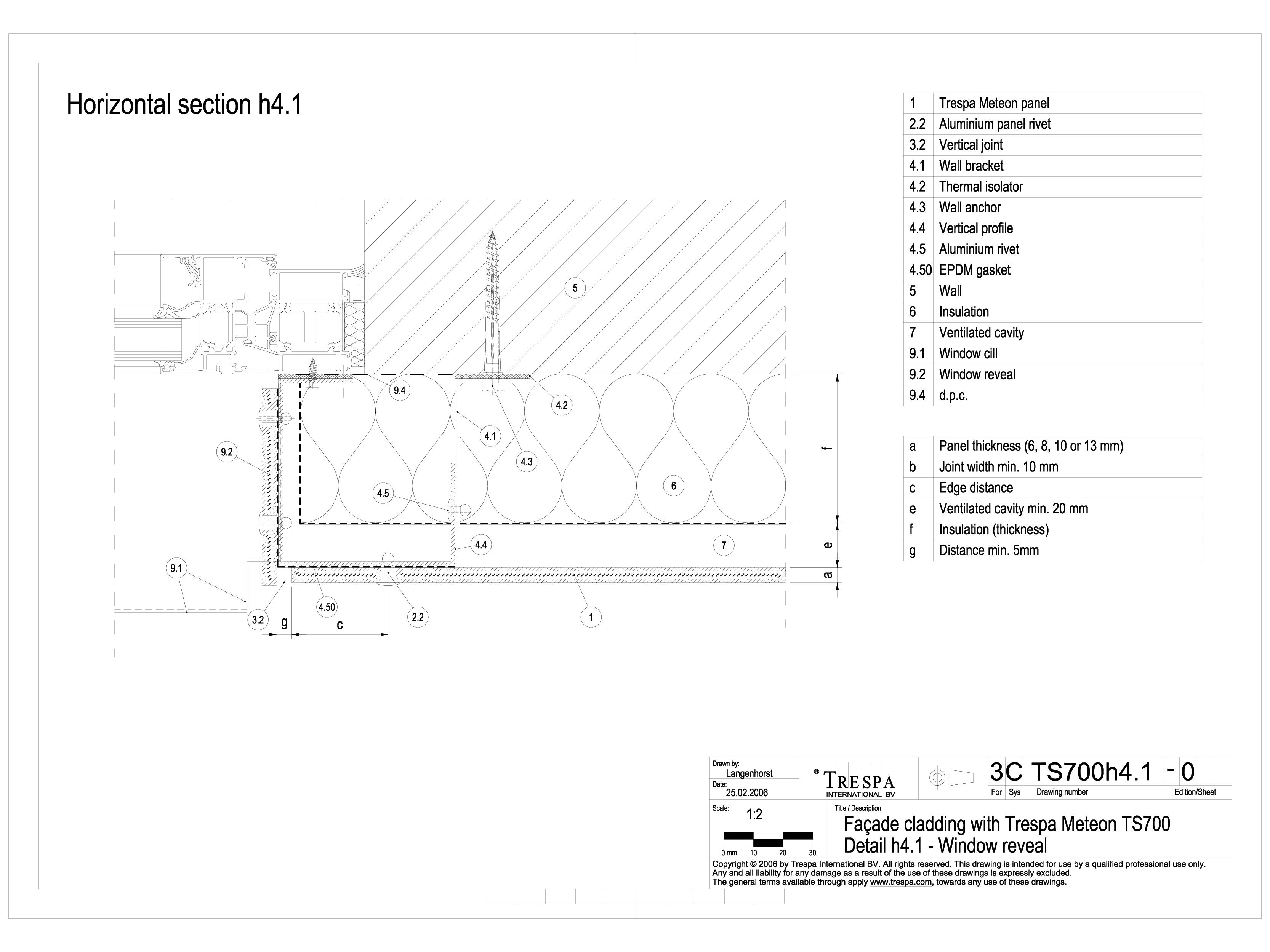 Pagina 1 - CAD-DWG Sisteme de prindere fatade ventilate invizibile cu nituri, detaliu pervaz...
