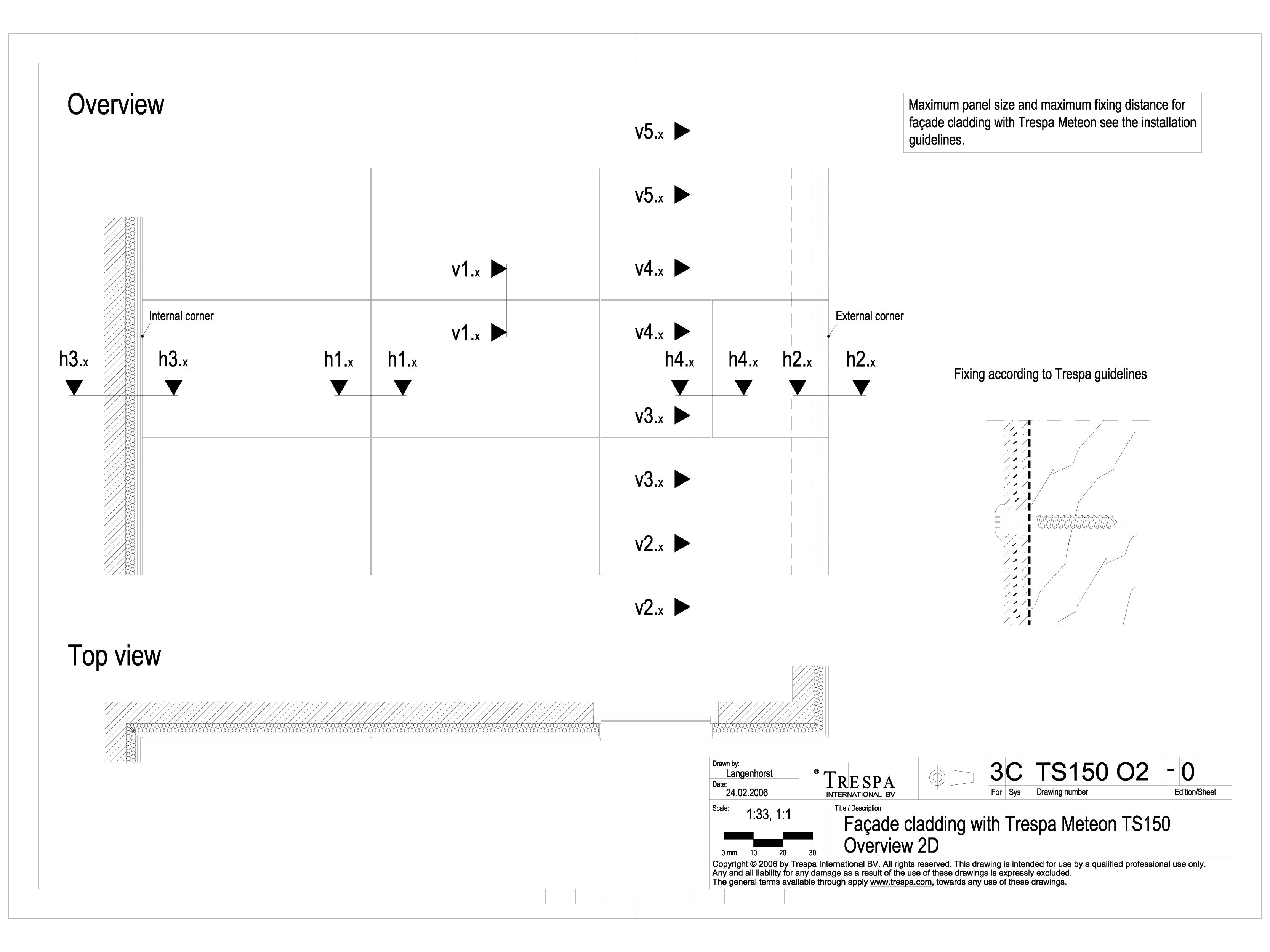 Pagina 1 - CAD-DWG Sisteme de prindere fatade ventilate invizibile cu suruburi si cadru din lemn...