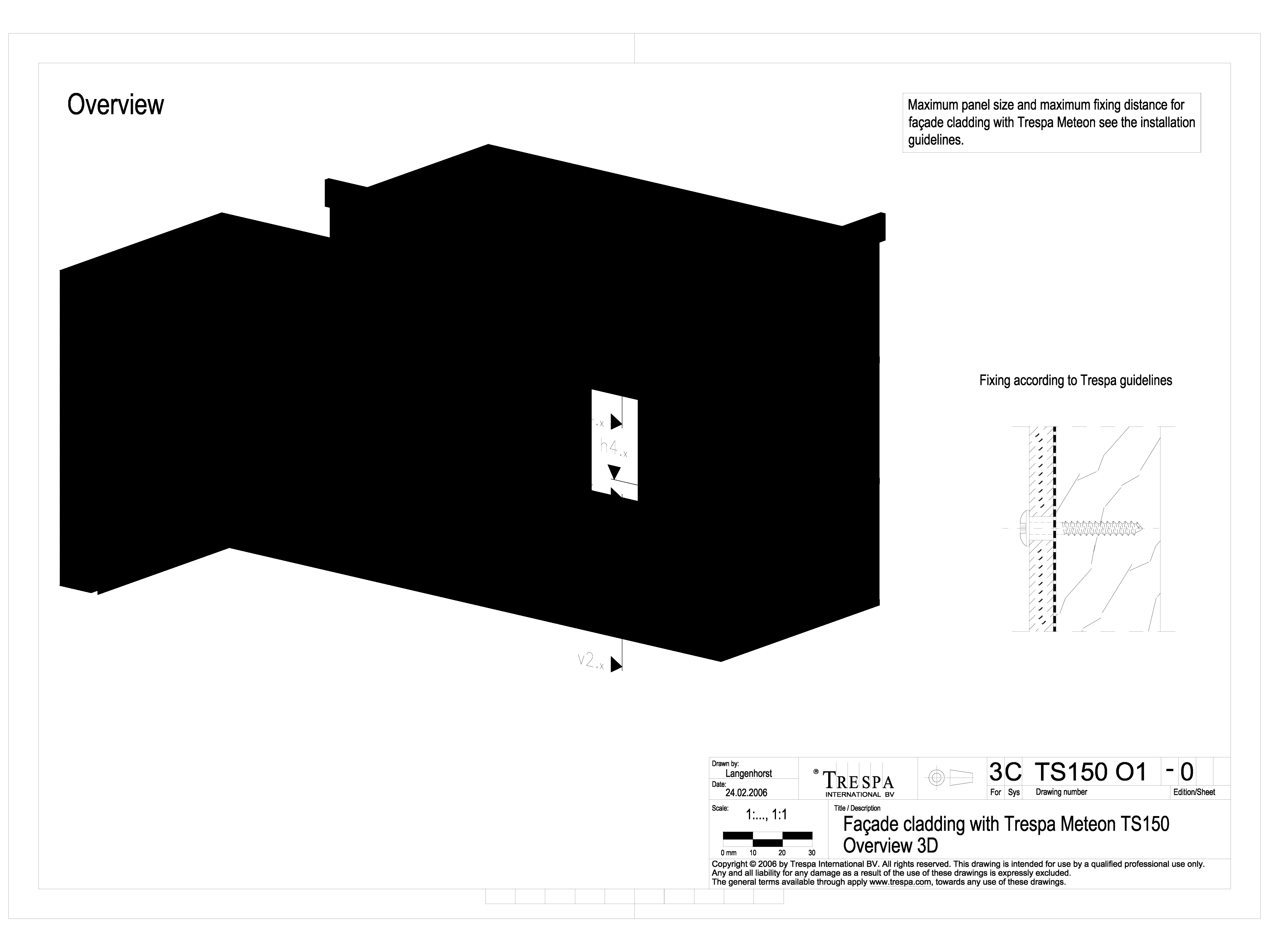 Sisteme de prindere fatade ventilate invizibile cu suruburi si cadru din lemn, detaliu 3D METEON TRESPA Placi HPL pentru fatade ventilate GIBB TECHNOLOGIES  - Pagina 1