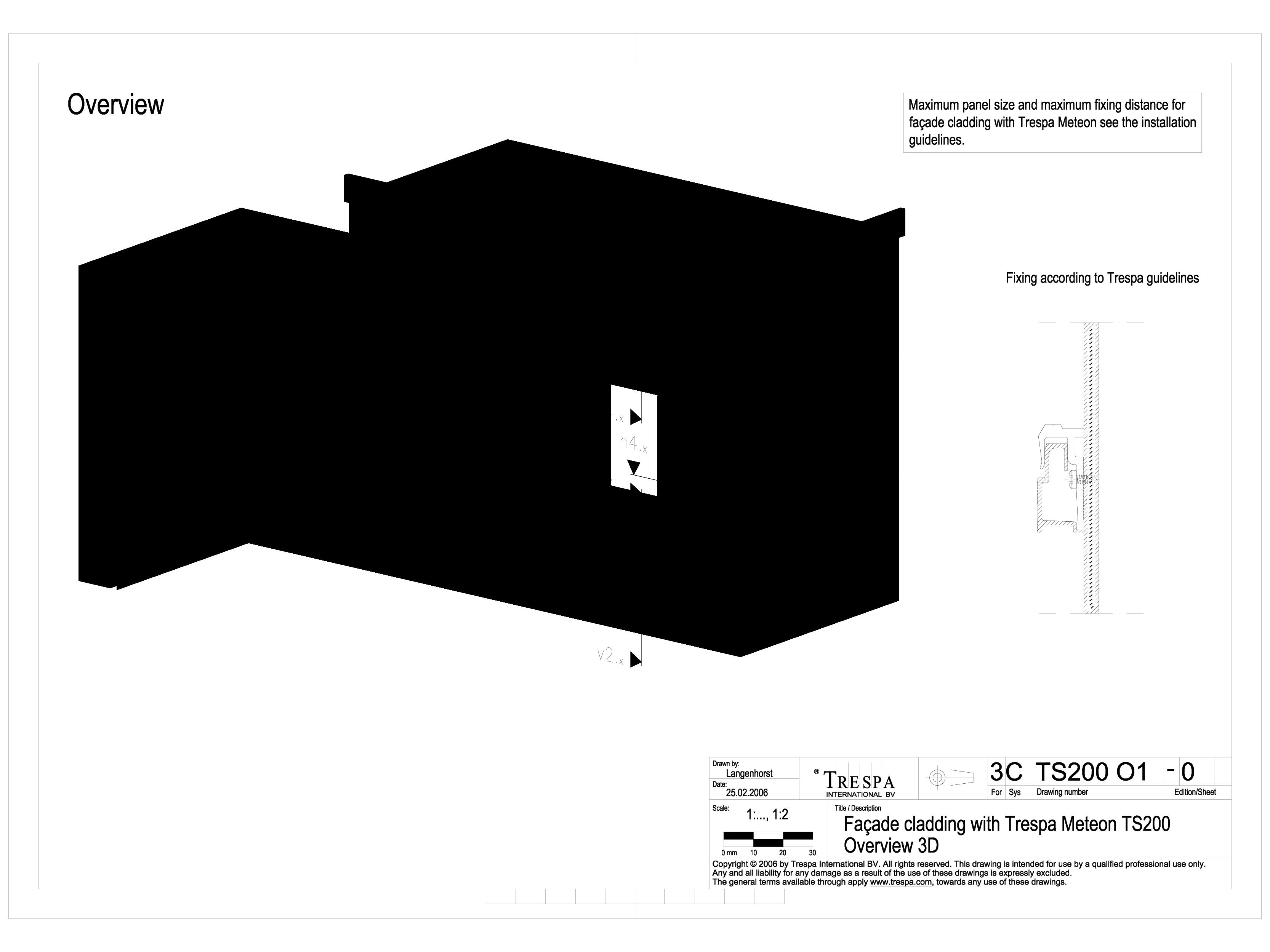 Sisteme de prindere fatade ventilate invizibile cu suruburi si insereturi, detaliu 3D METEON TRESPA Placi HPL pentru fatade ventilate GIBB TECHNOLOGIES  - Pagina 1
