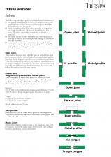 Sisteme de panouri pentru fatade ventilate, tipuri de imbinari ale panourilor TRESPA