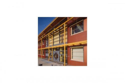 Lucrari de referinta Placaje HPL pentru fatade ventilate - Proiectul School Oberstufenzentrum Dahmen-Spree, Germania TRESPA - Poza 1