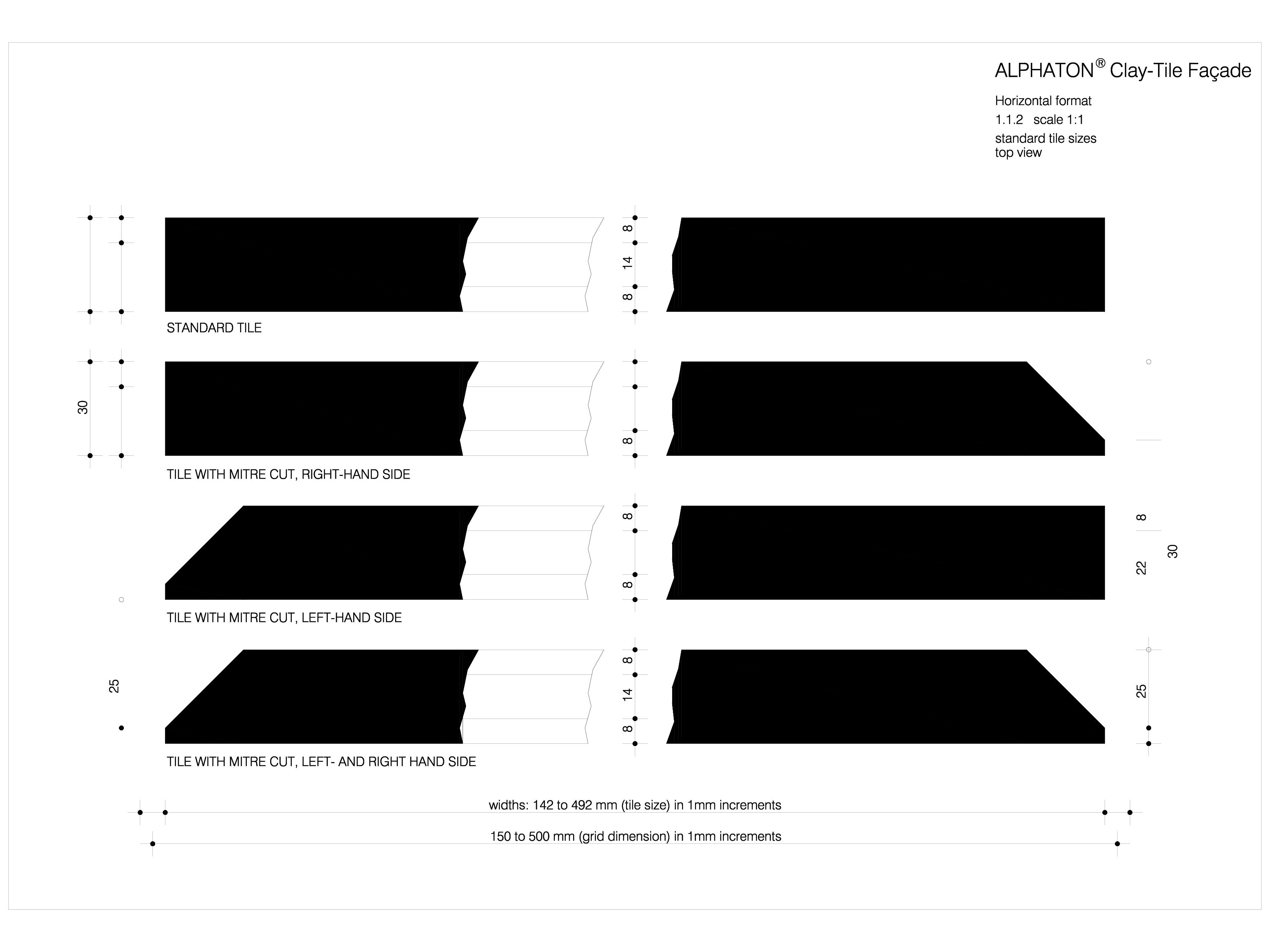 Pagina 1 - CAD-DWG Placaje ceramice pentru fatada - Plan ALPHATON Detaliu de produs ALPHATON