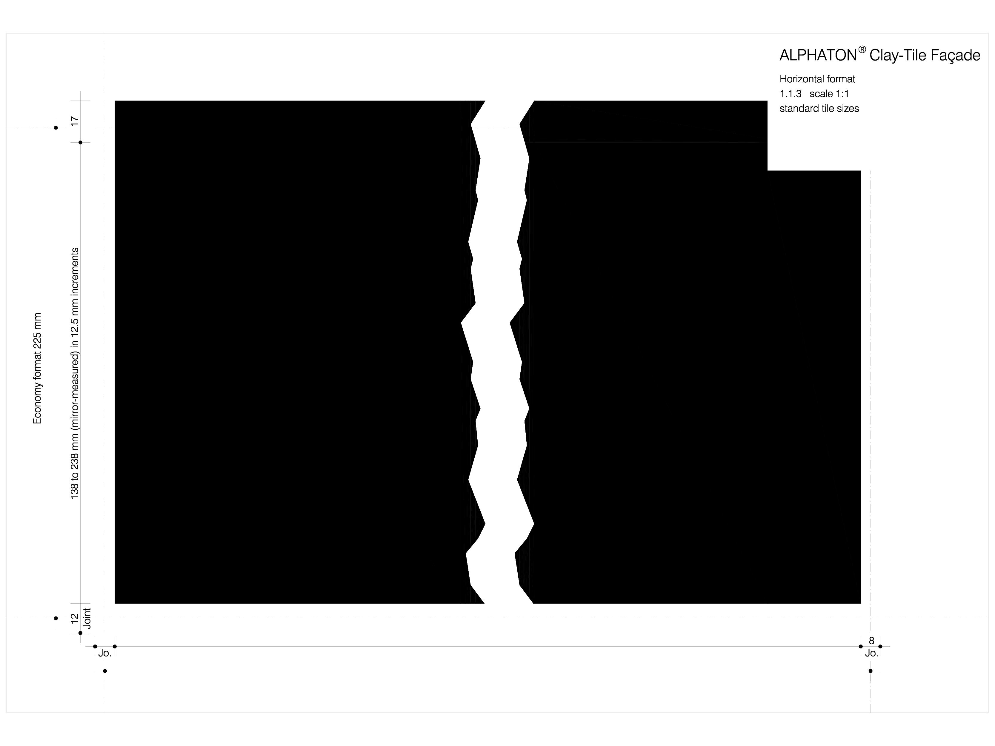 Pagina 1 - CAD-DWG Placaje ceramice pentru fatada - Placa cu dimensiune standard ALPHATON Detaliu de...